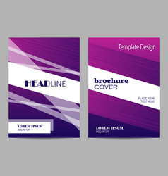 brochure template layout design abstract purple vector image