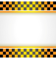 Cab background square vector image
