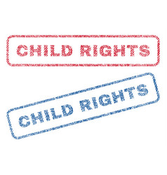 Child rights textile stamps vector