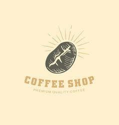 coffee shop logo design vector image