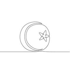 Continuous drawn one line symbol vector