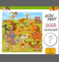 Count the dogs game vector