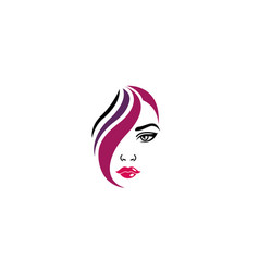 creative women face window vector image
