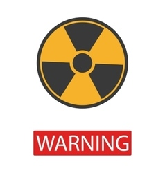 Danger radiation sign collection vector image