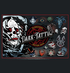 dark tattoo vector image