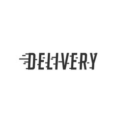 Delivery template design vector