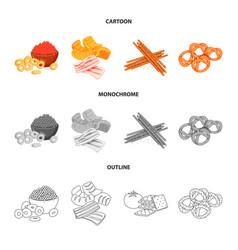 Design of taste and seasonin sign set of vector