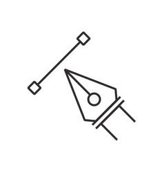 Design pen tool icon black vector