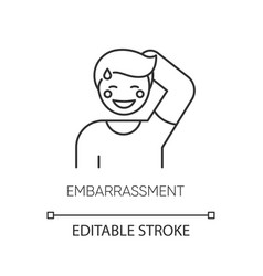Embarrassment pixel perfect linear icon vector