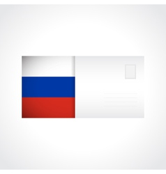 Envelope with Russian flag card vector image