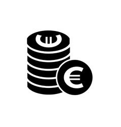 Euro coins simple icon vector