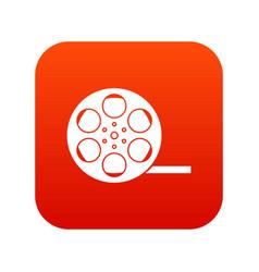 film icon digital red vector image
