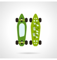 Flat color icon for modern skateboard vector image