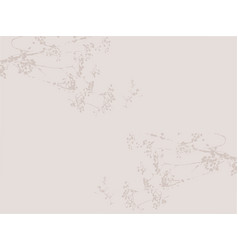 floral delicate neutral nude color background vector image