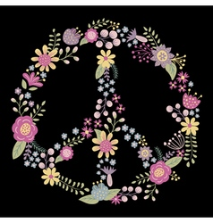 Flower peace vector