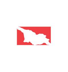 Georgia map logo icon sign element vector