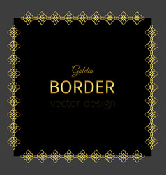 Golden border in square shape vector