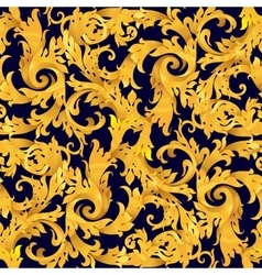Golden seamless victorian baroque vector image
