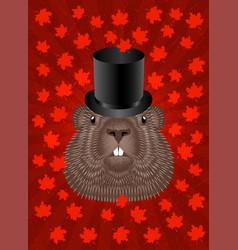 Groundhog day concept national holiday in canada vector