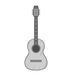 Guitar icon gray monochrome style vector image