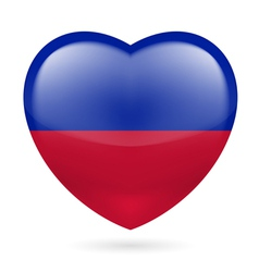 Heart icon of Haiti vector image