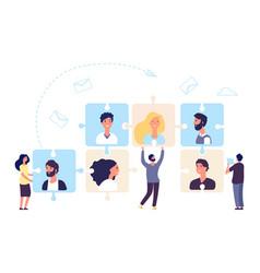 Hr concept teamwork business team making vector