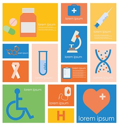 Icon Hospital Medical Science vector image