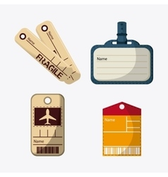 Labels and tags of baggage and luggage concept vector