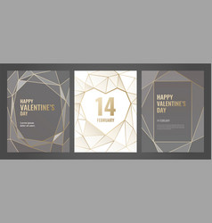 luxury invitation template with gold frame vector image