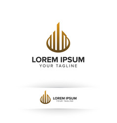 Luxury real estate logo architectural vector