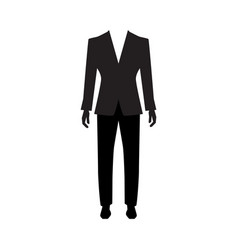 man suit icon isolated vector image