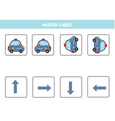 Matching game for kids match orientation and vector