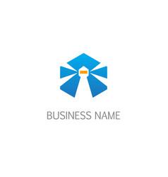 Mercusuar light logo vector