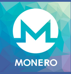 Monero xmr blockchain cripto currency logo vector