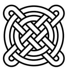 national celtic pattern intertwined circles cross vector image