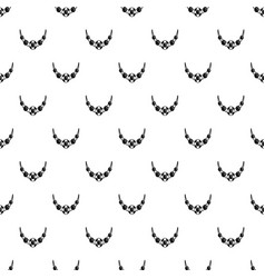 necklace pattern seamless vector image