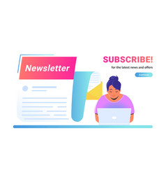 newsletter subcription for latest news and vector image