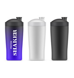 plastic bottle for sport or shakers container vector image