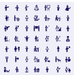 Professions stick figures vector image