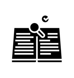 Refresh knowledge glyph icon vector