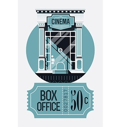 Retro movie box office vector
