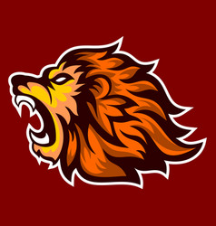 Roaring lion logo esport vector
