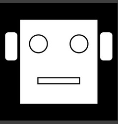 Robot head icon vector