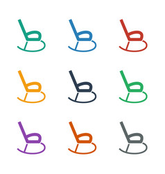 Rocking chair icon white background vector
