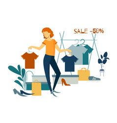 Sale consumerism and people concept vector