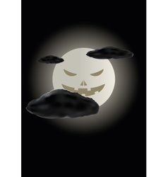 Scary face of halloween moon vector image
