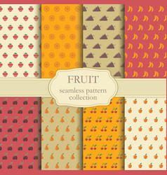 seamless backgrounds of fruit vector image