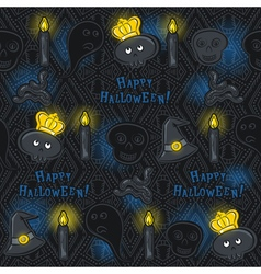 Seamless Pattern with Halloween symbols vector