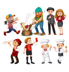 set of people with different job vector image