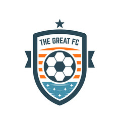soccer or football club logo or badge vector image